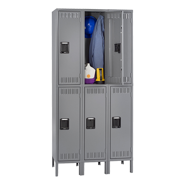 Tennsco Corp Three-Wide Double Tier Lockers