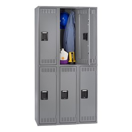 Tennsco Corp Three Wide Double Tier School Locker