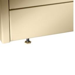 Deluxe Combination Cabinet w/ Glass Doors - Levelers
