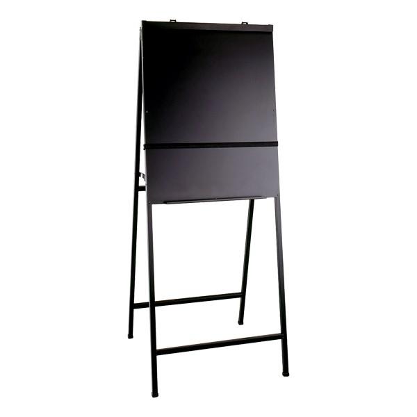 A-Frame Easel - Folding (Black Aluminum)