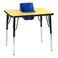 Surprising One Seat Adjustable Height Toddler Table Inzonedesignstudio Interior Chair Design Inzonedesignstudiocom