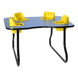 """Four-Seat Toddler Table - Space Saver (27\"""" H)"""
