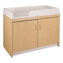 Infant Changing Table w/ Six Trays - Unassembled - Maple