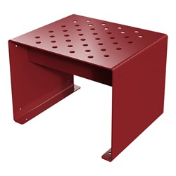 Pasedena Collection Straight Bench (2' L) - Burgundy