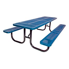 Rectangle Heavy-Duty Picnic Table w/ Round Perforation (6\' L)