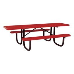 ADA Rectangle Heavy-Duty Picnic Table w/ Diamond Expanded Metal