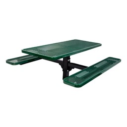 Rectangle In-Ground Mount Pedestal Picnic Table