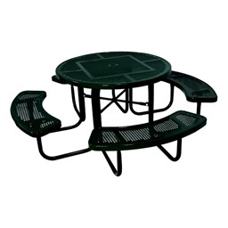 Round Heavy-Duty Picnic Table w/ Round Perforation