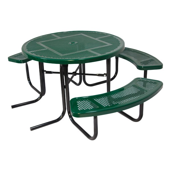 ADA Round Heavy-Duty Picnic Table w/ Round Perforation