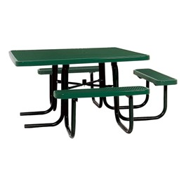 ADA Square Heavy-Duty Picnic Table w/ Diamond Expanded Metal