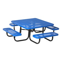 Square Portable Preschool Outdoor Picnic Table Diamond Expanded - Square metal picnic table