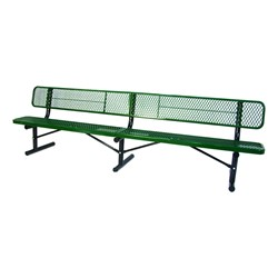940 Series Bench - Diamond Expanded Metal - Surface Mount (15' L)