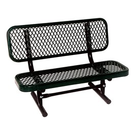 Outdoor Preschool Bench - Portable (Diamond Expanded Metal) - Shown in black