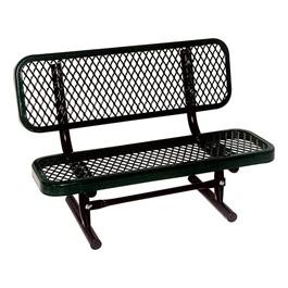 Outdoor Preschool Bench - Portable (Diamond Expanded Metal) - Shown in black