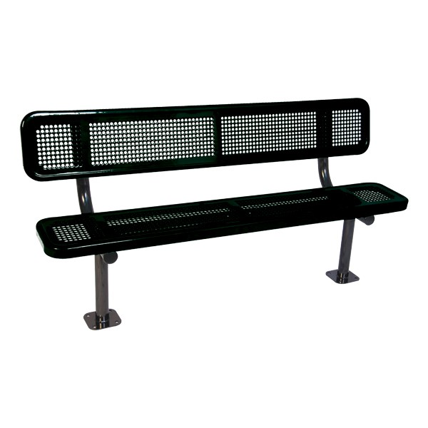940 Series Bench - Round Perforation - Surface Mount
