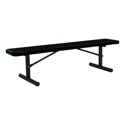 942 Series Park Bench - Diamond Expanded Metal - Portable