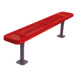 942 Series Park Bench - Round Perforation  - Surface Mount