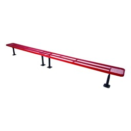 942 Series Park Bench - Diamond Expanded Metal - Surface Mount (10' L)