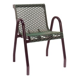 953 Series Outdoor Chair - Diamond Expanded Metal