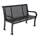 Lexington 954 Series Park Bench - Shown w/ round perforations