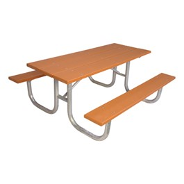 238 Series Rectangle Portable Picnic Table - Cedar Recycled Plastic