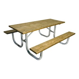 238 Series Rectangle Portable Picnic Table - Pressure Treated Wood