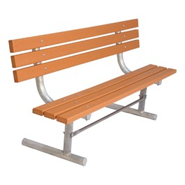 940 Series Traditional Three-Plank Portable Bench - Cedar Recycled Plastic