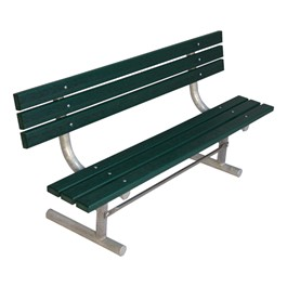 940 Series Traditional Three-Plank Portable Bench - Green Recycled Plastic