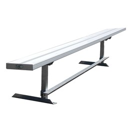 942 Series Aluminum Solid Plank Bench (6\' L)