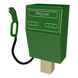 Gas Pump - Post