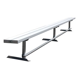 942 Series Aluminum Solid Plank Bench (15\' L)