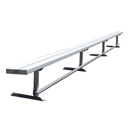 942 Series Aluminum Solid Plank Bench (21\' L)