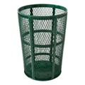Diamond Expanded Metal Outdoor Trash Can