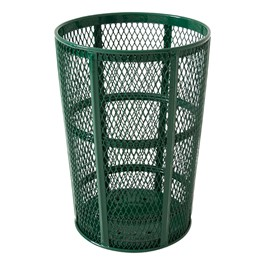 Diamond Expanded Metal Outdoor Trash Can - shown in green