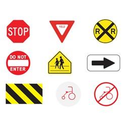 Trike Path Traffic Sign - Directional Arrow