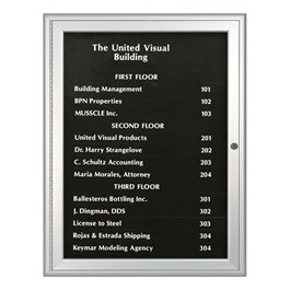 Magnetic Strip Directory Board with Black Color Strip