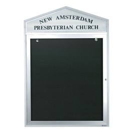 Cathedral Outdoor Letterboard w/ Header