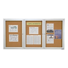 Enclosed Bulletin Board w/ Three Doors