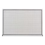 Grid-Lined Whiteboard w/ Aluminum Frame