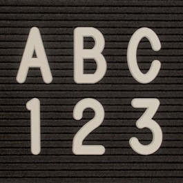 Helvetica Letter Sprue Set