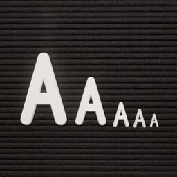 Plastic Letter Box Set w/ Helvetica Letters