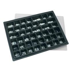 Plastic Letter Box Set w/ Roman Letters