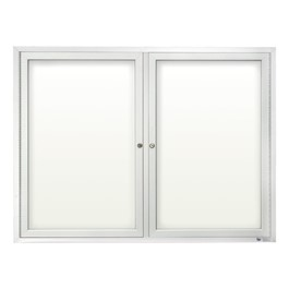 Outdoor Enclosed Dry Erase Board w/ Two Doors