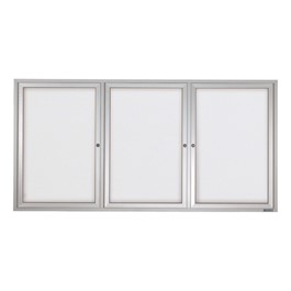 Indoor Enclosed Dry Erase Board w/ Three Doors & Traditional Frame