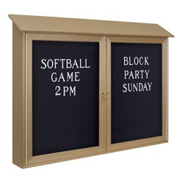 Double-Door Letterboard Outdoor Message Center