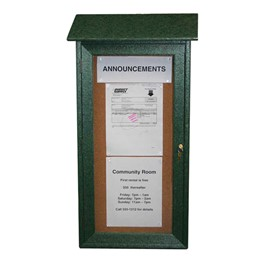 "Mini Corkboard Outdoor Message Center (16\"" W x 34\"" H)"