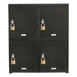 Cell Phone & Laptop Lockers - 4 Lockers<br>Lock not included