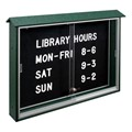 Sliding Door Letterboard Message Center