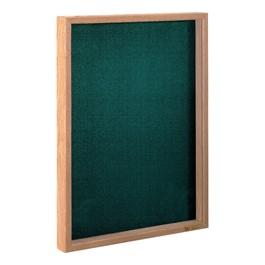 Slim-Style Memorabilia Case - Shown w/ light oak frame & cobalt accent fabric