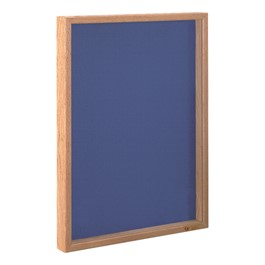 Drop-In Shadow Box - Shown w/ light oak frame & cobalt fabric color